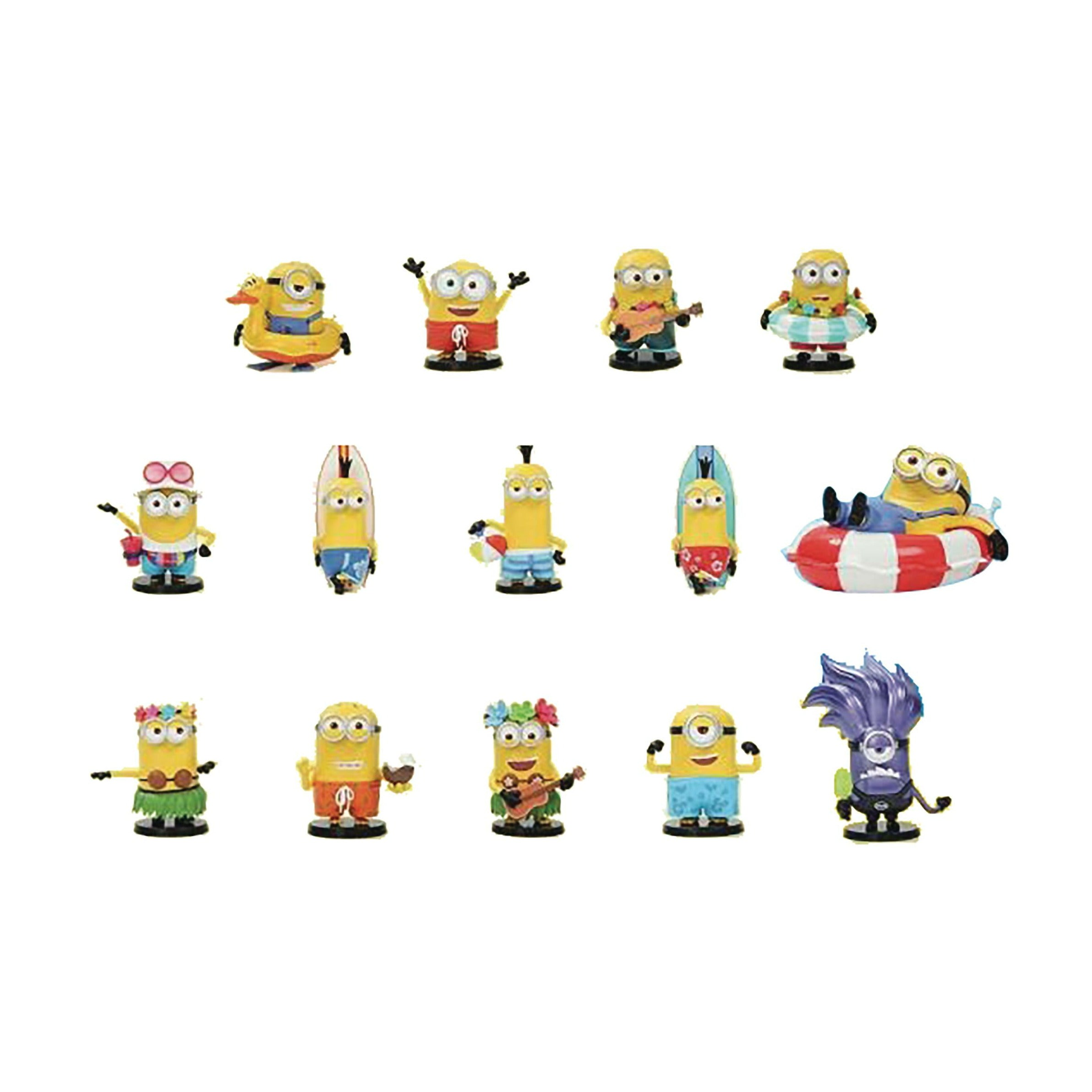 Popmart Minions On Holiday 12pc Figure Bmb Display