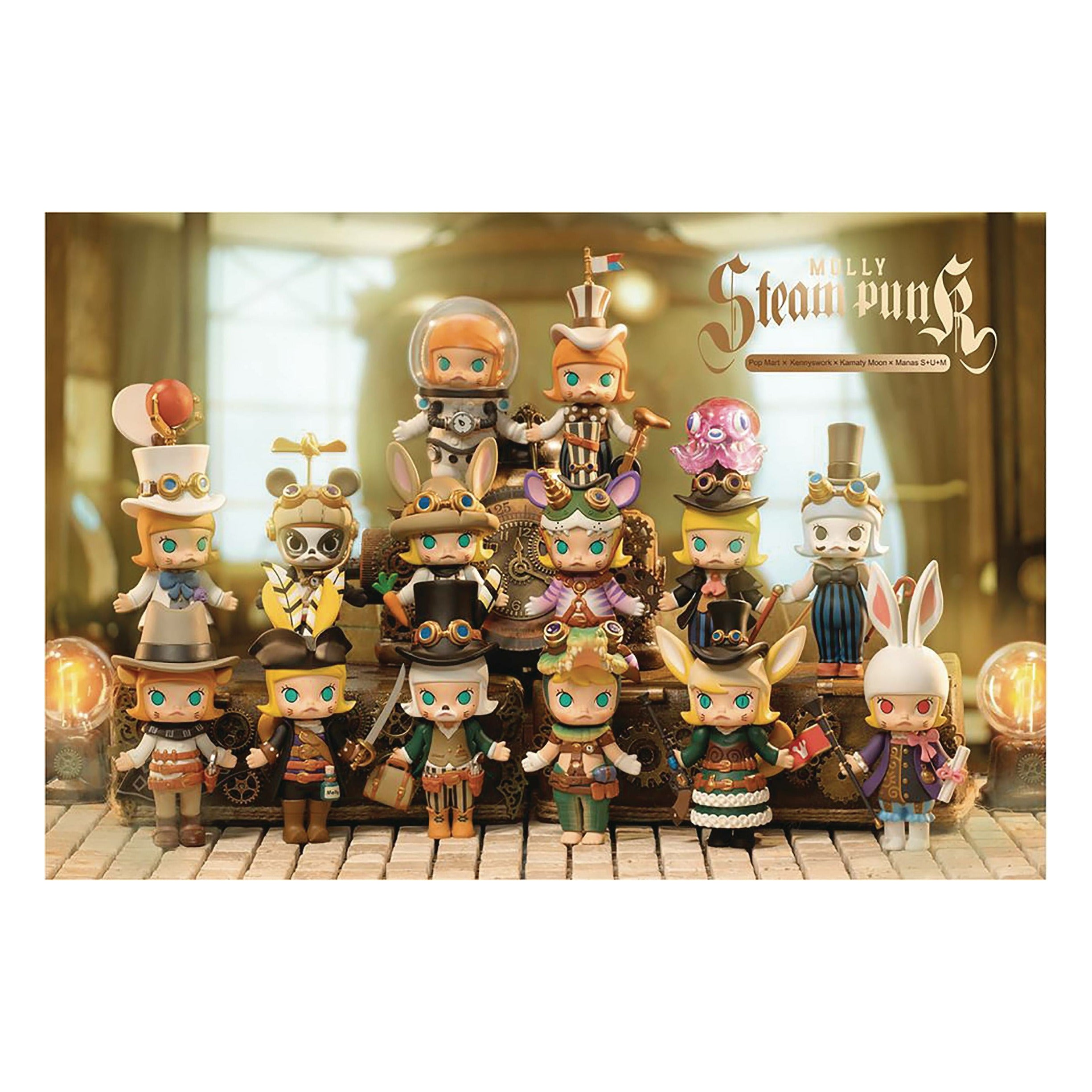 Popmart Molly Steampunk Series 12pc Figure Bmb Display