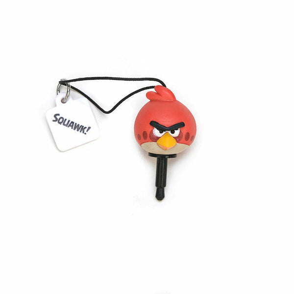 Tomy A.R.T.S Angry Bird Earphone Jack Dust Cover Dust Plug Mascot Strap Full Set