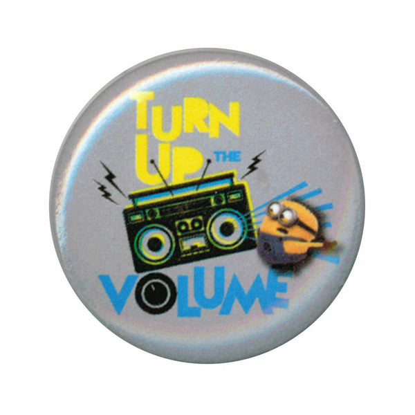 Despicable Me Minions Turn Up The Volume 1.25 Inch Button