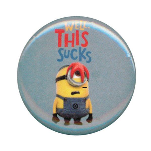Despicable Me Minions Well. This Sucks 1.25 Inch Button
