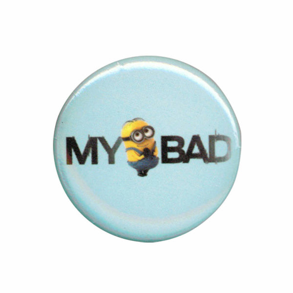 Despicable Me Minions My Bad 1.25 Inch Button