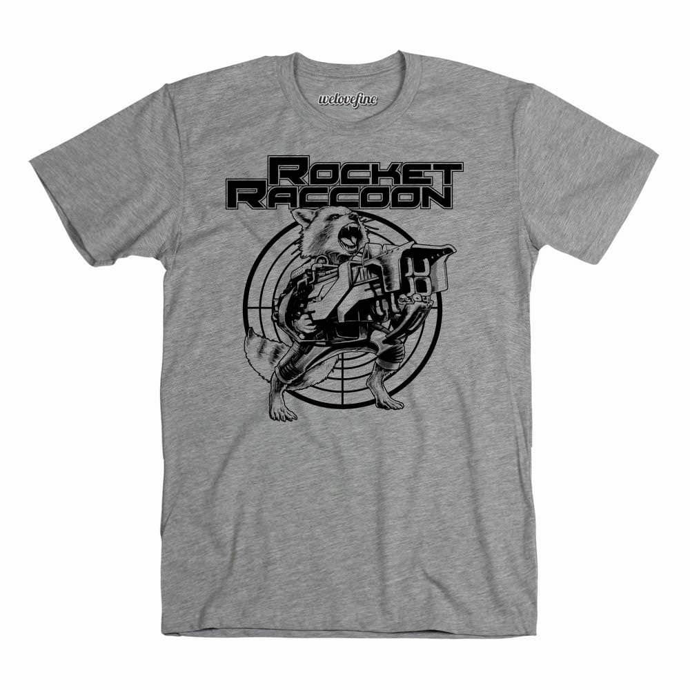 Guardians Of The Galaxy Rocket Raccoon Target Mens Grey T-Shirt