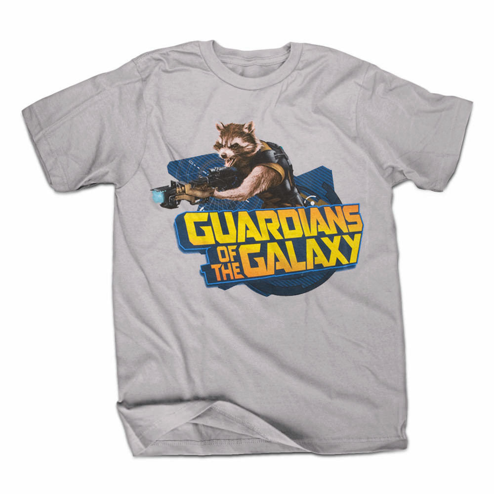 Guardians Of The Galaxy Raccoontastic Mens Grey T-Shirt