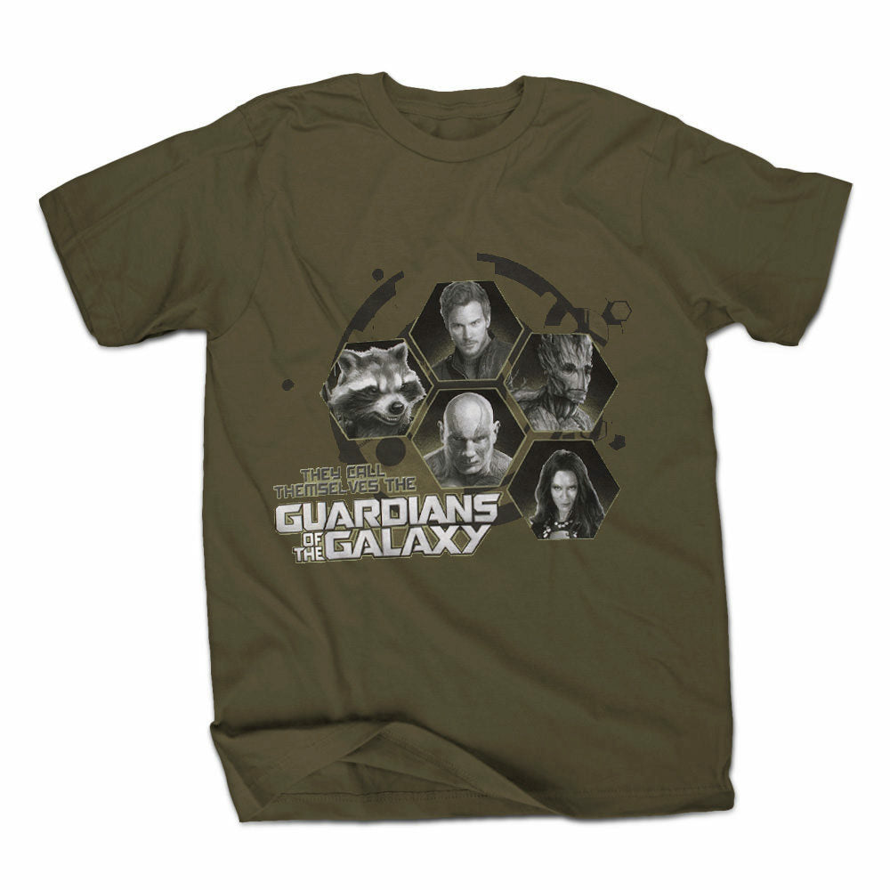 Marvel Guardians Of The Galaxy They Call Themselves Mens Green T-Shirt