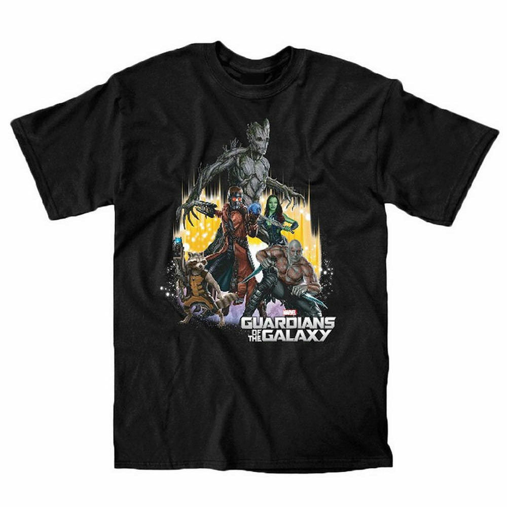 Marvel Guardians of The Galaxy Team Mens Black T-Shirt