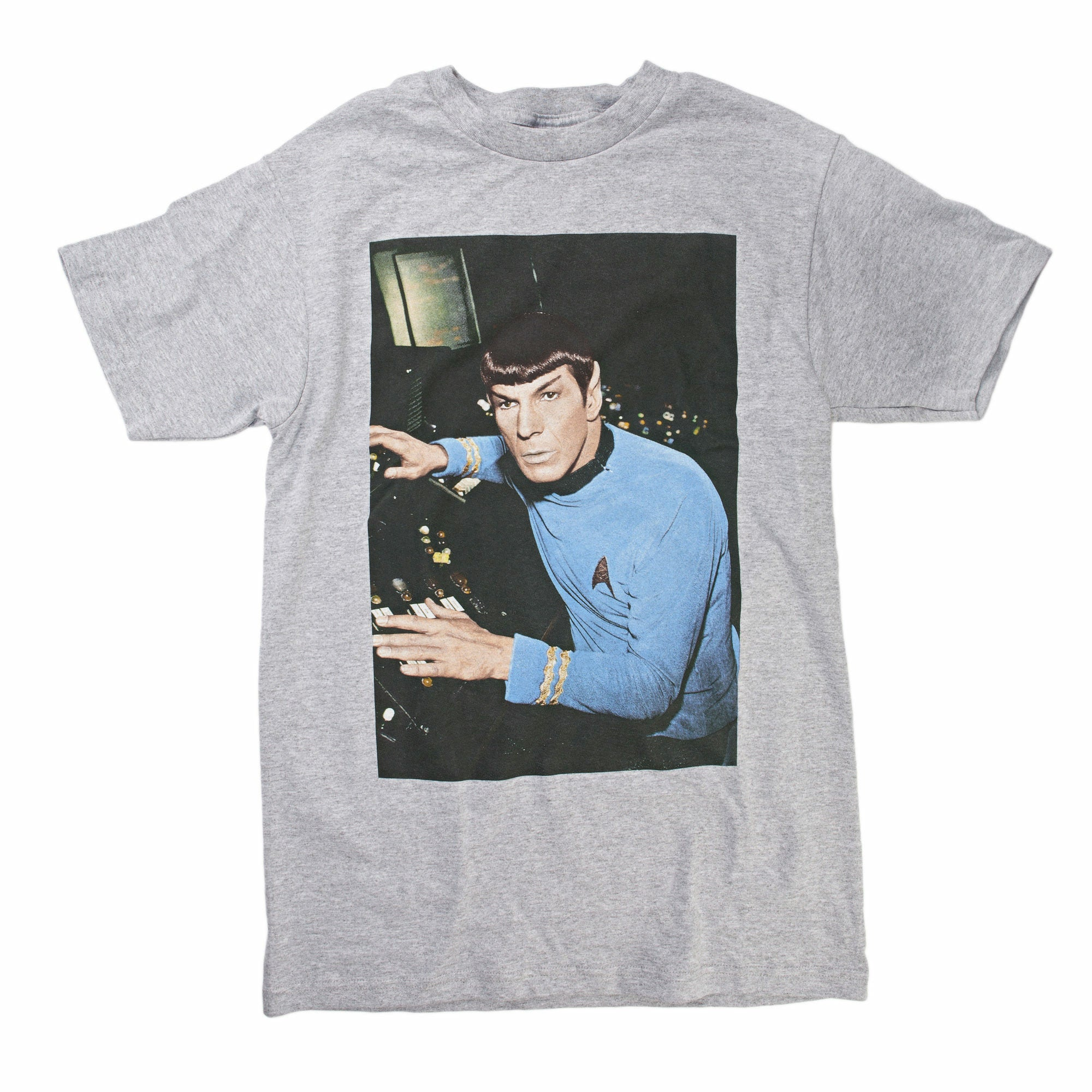 Star Trek Leonard Nimoy as Spock Mens Grey T-Shirt