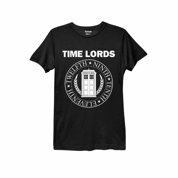 Doctor Who Time Lords Juniors Black T-Shirt