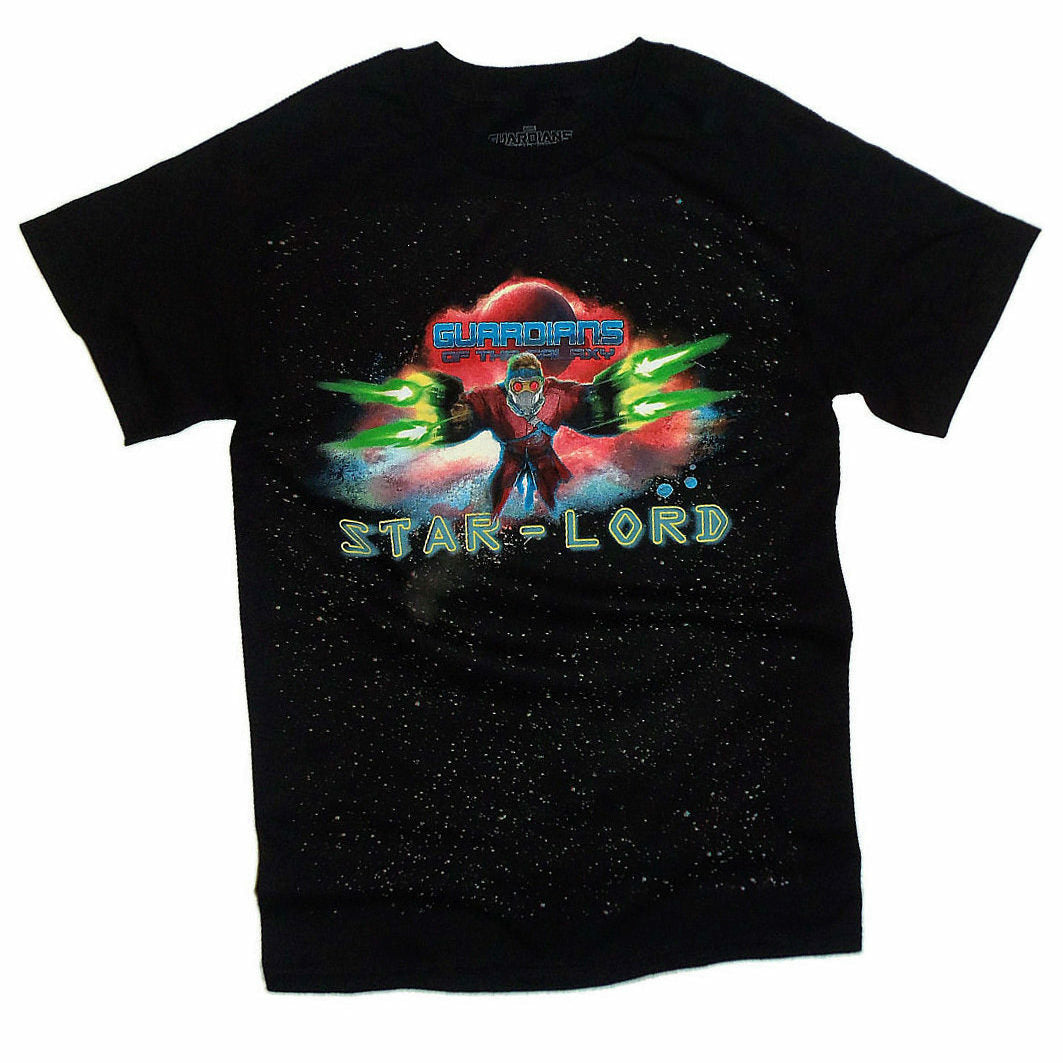 Marvel Guardians of the Galaxy Star-Lord Mens Black T-Shirt