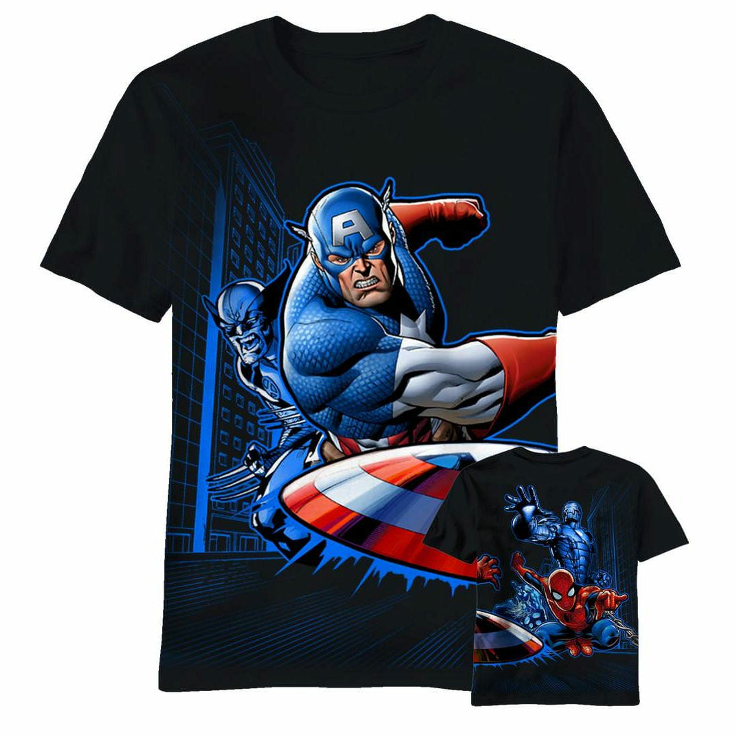 Marvel Lunch Break Mens Black T-Shirt