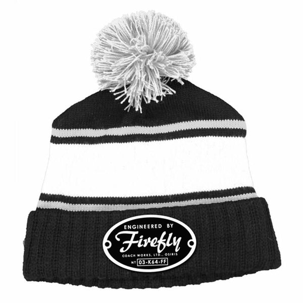 Firefly Engineered Logo Knit Pom Beanie Hat