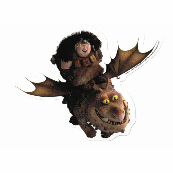 How To Train Your Dragon 2 Fishlegs and Meatlug Sticker