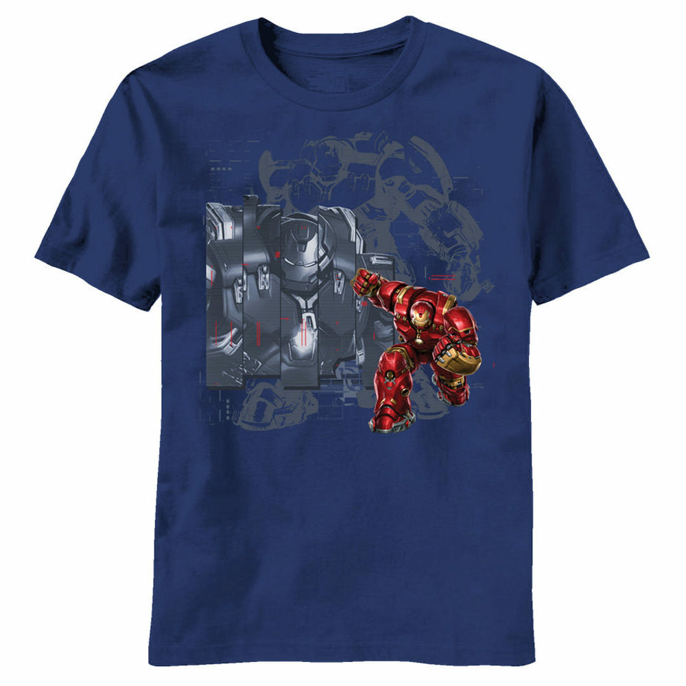 Marvel Avengers Age of Ultron Buster Curling Youth Navy T-Shirt