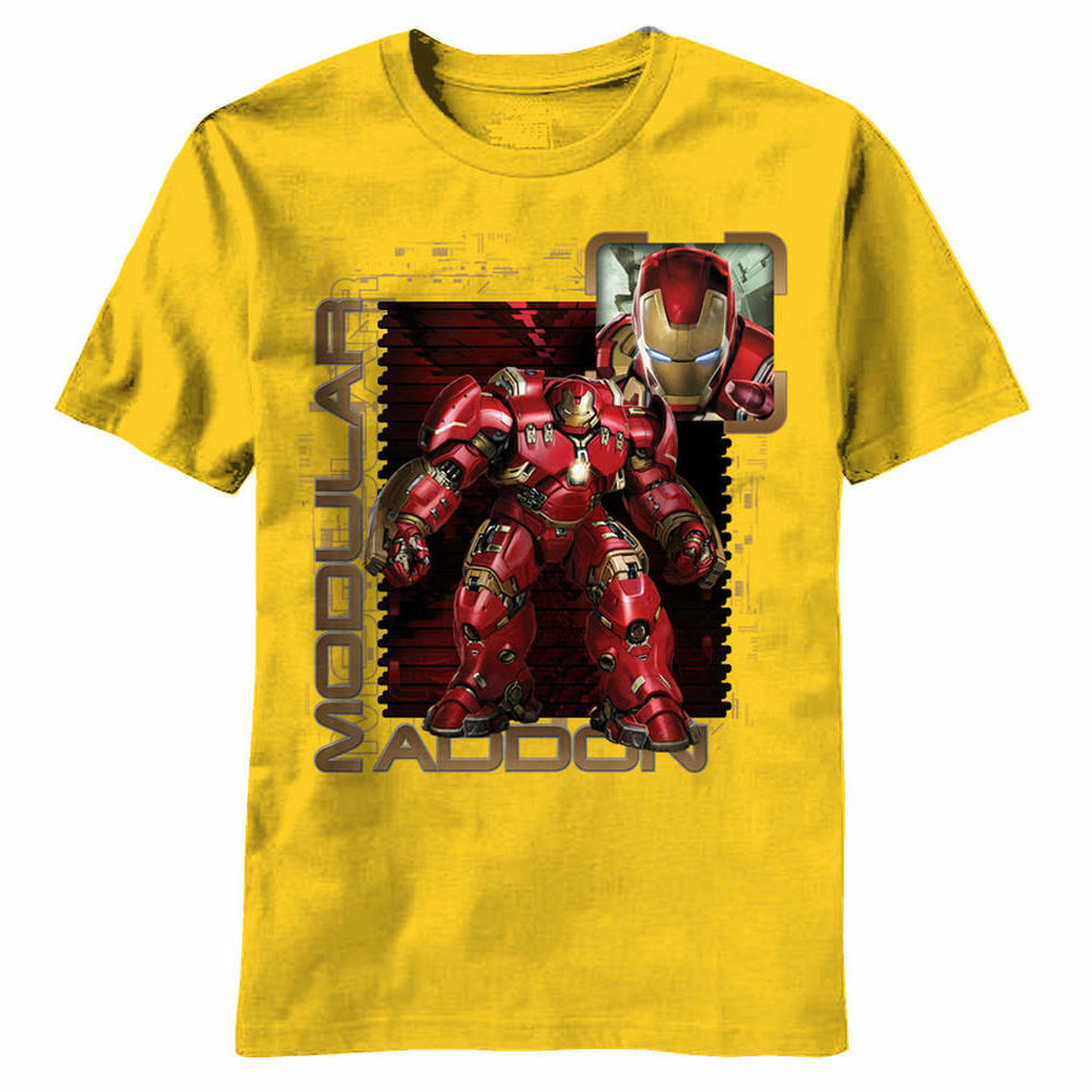 Marvel Avengers Age of Ultron Modular Stamp Juvy Yellow T-Shirt