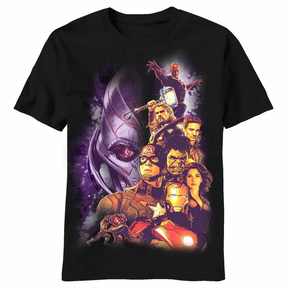 Marvel Avengers Age Of Ultron Ults Youth Black T-Shirt