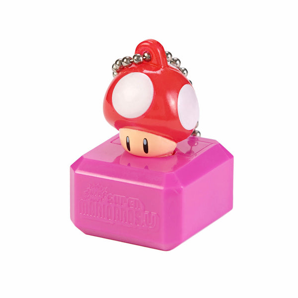New Super Mario Bros U Mascot Keychain Light - Red Mushroom