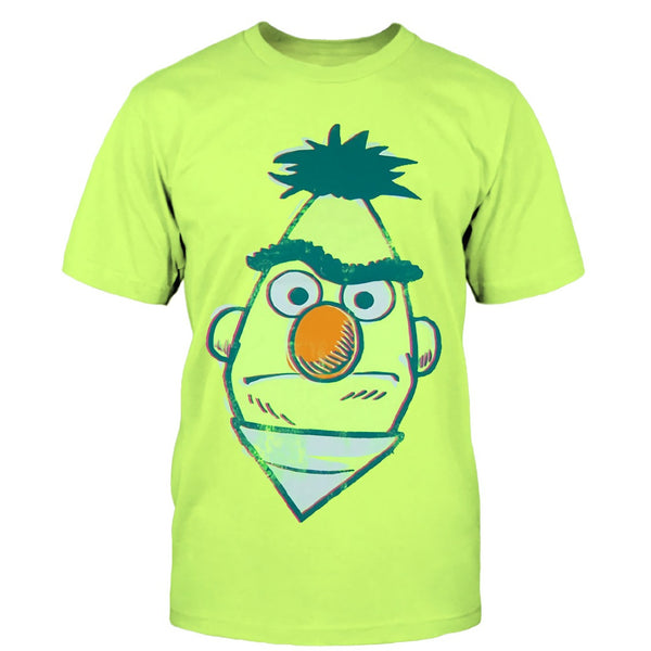 Sesame Street Bert Men's Neon Yellow T-Shirt