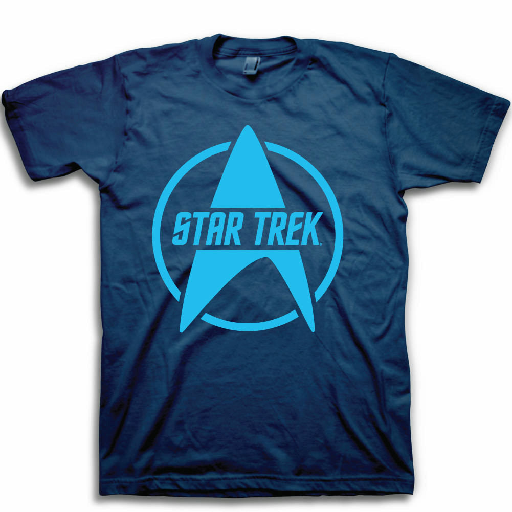 Star Trek Logo Mens Navy Blue T-Shirt