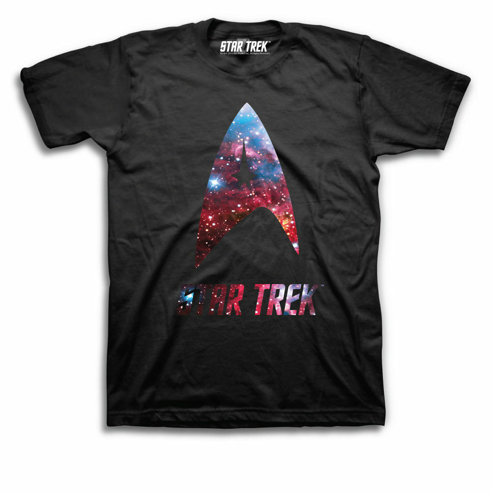 Star Trek Nebula Logo Mens Black T-Shirt