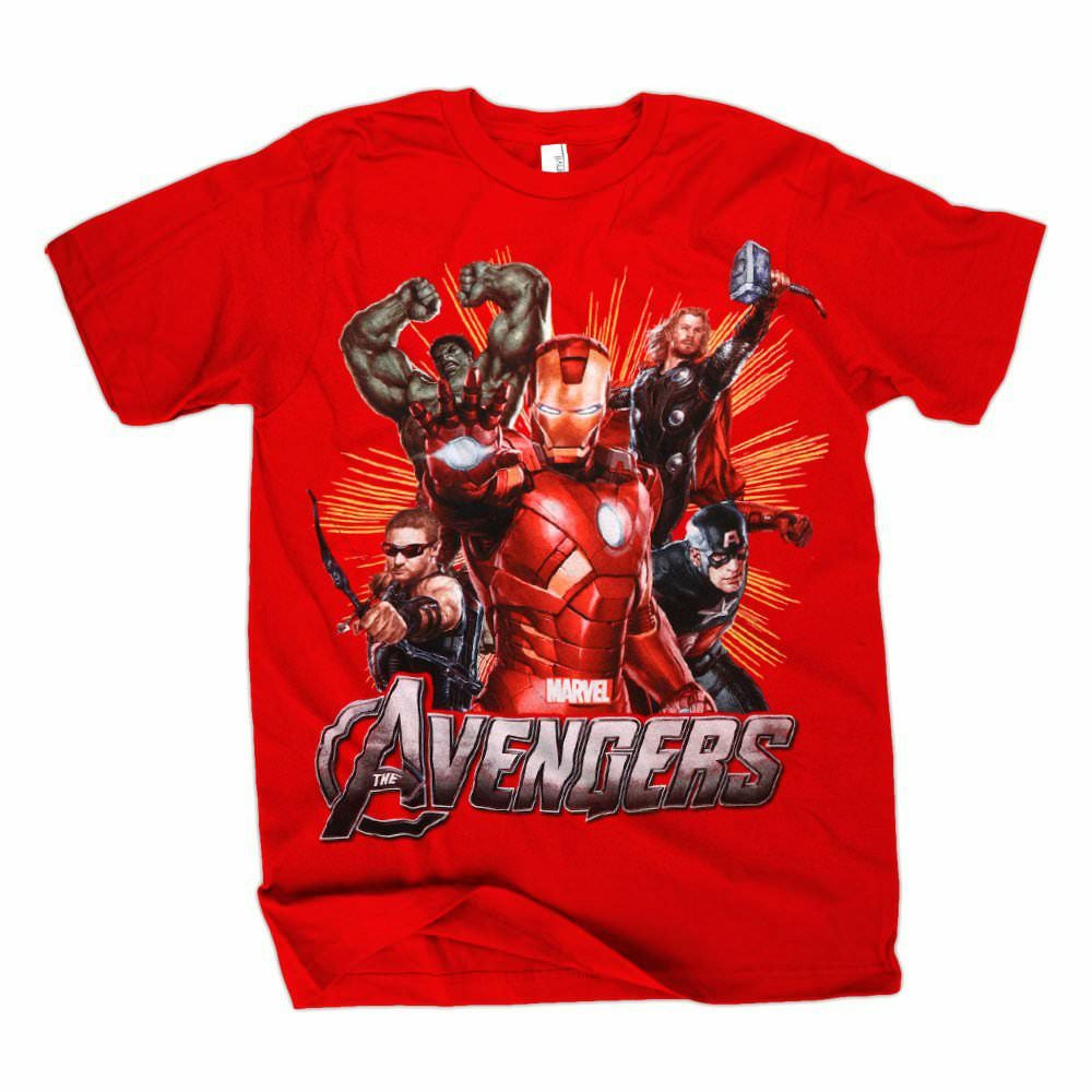 The Avengers Movie Assembled Red T-Shirt