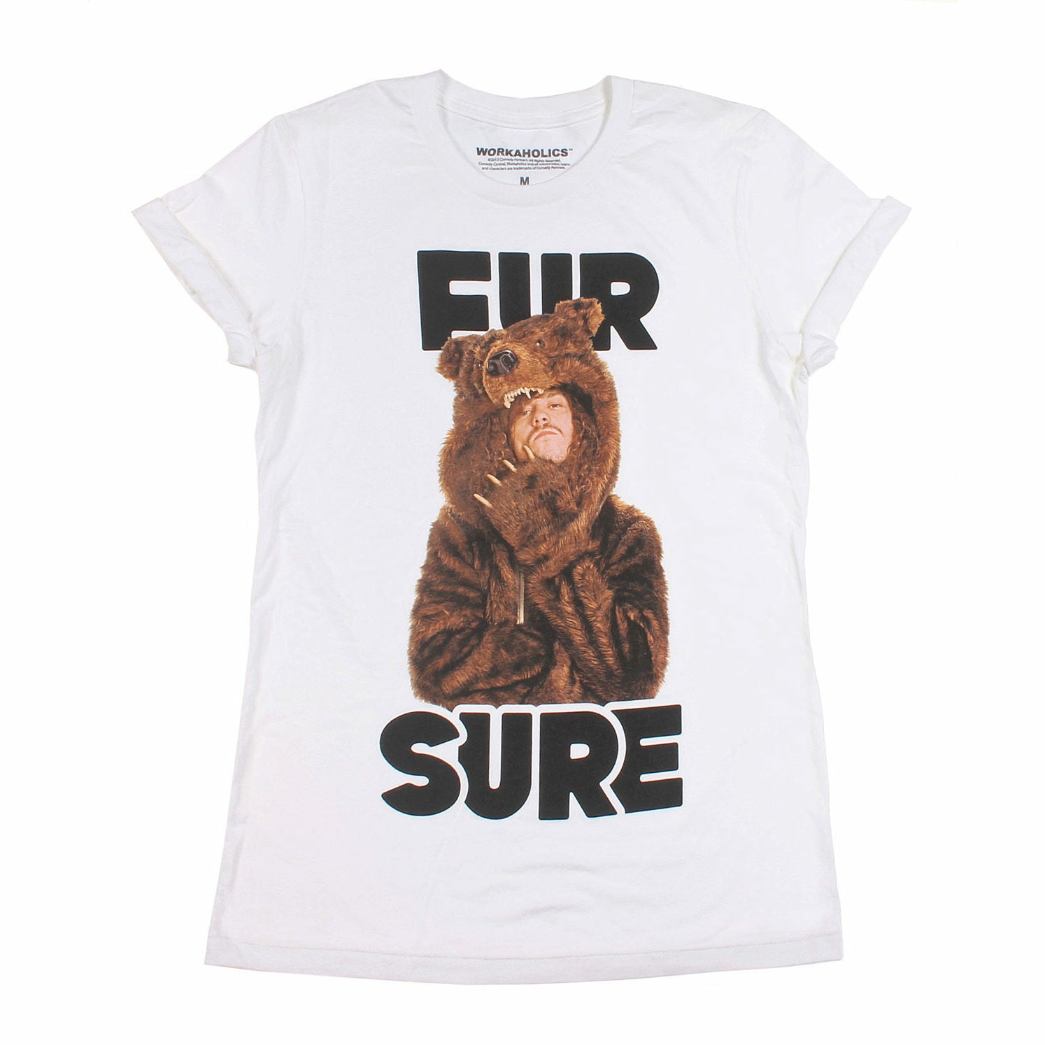 Workaholics Fur Sure Rolled Sleeve Boyfriend Juniors T-Shirt