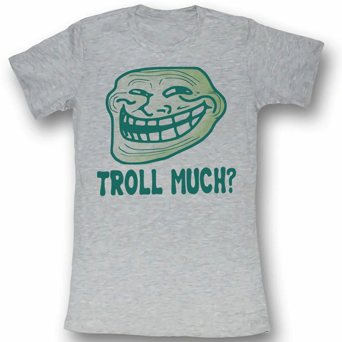 Troll Face You Mad Troll Much? Juniors Heather Grey T-Shirt