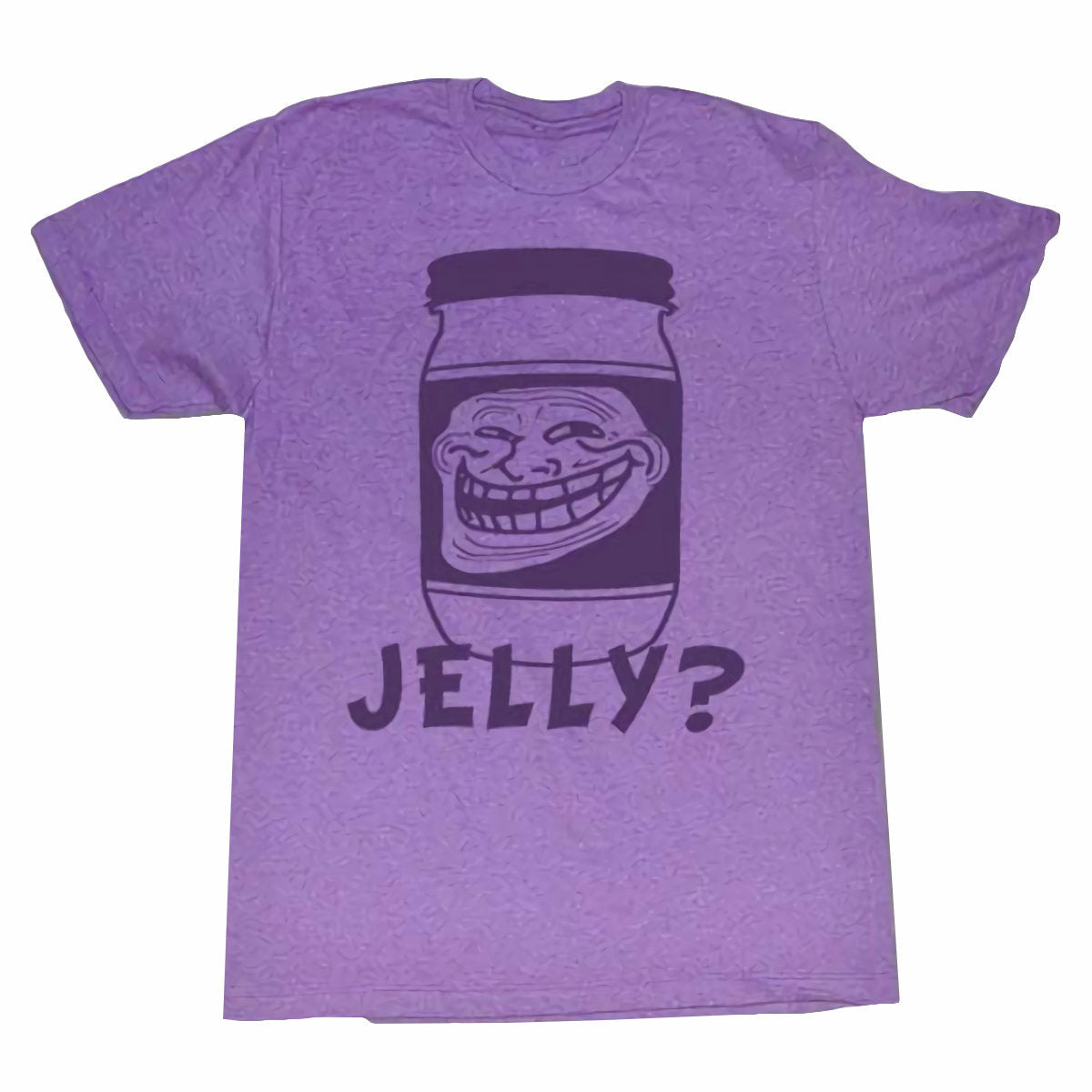 Troll Face You Mad Jelly Mens Purple T-Shirt