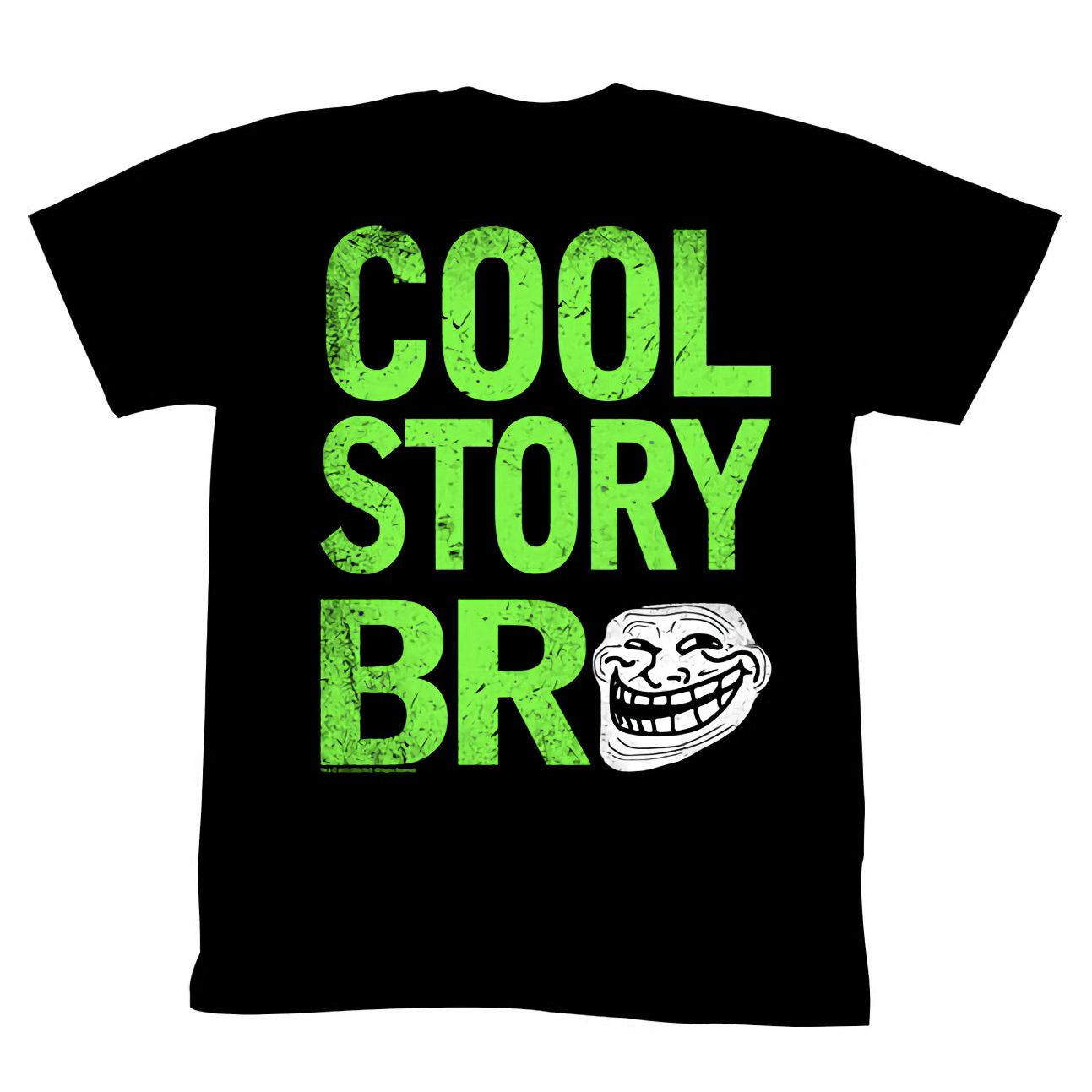 Troll Face You Mad Cool Story Bro Mens Black T-Shirt
