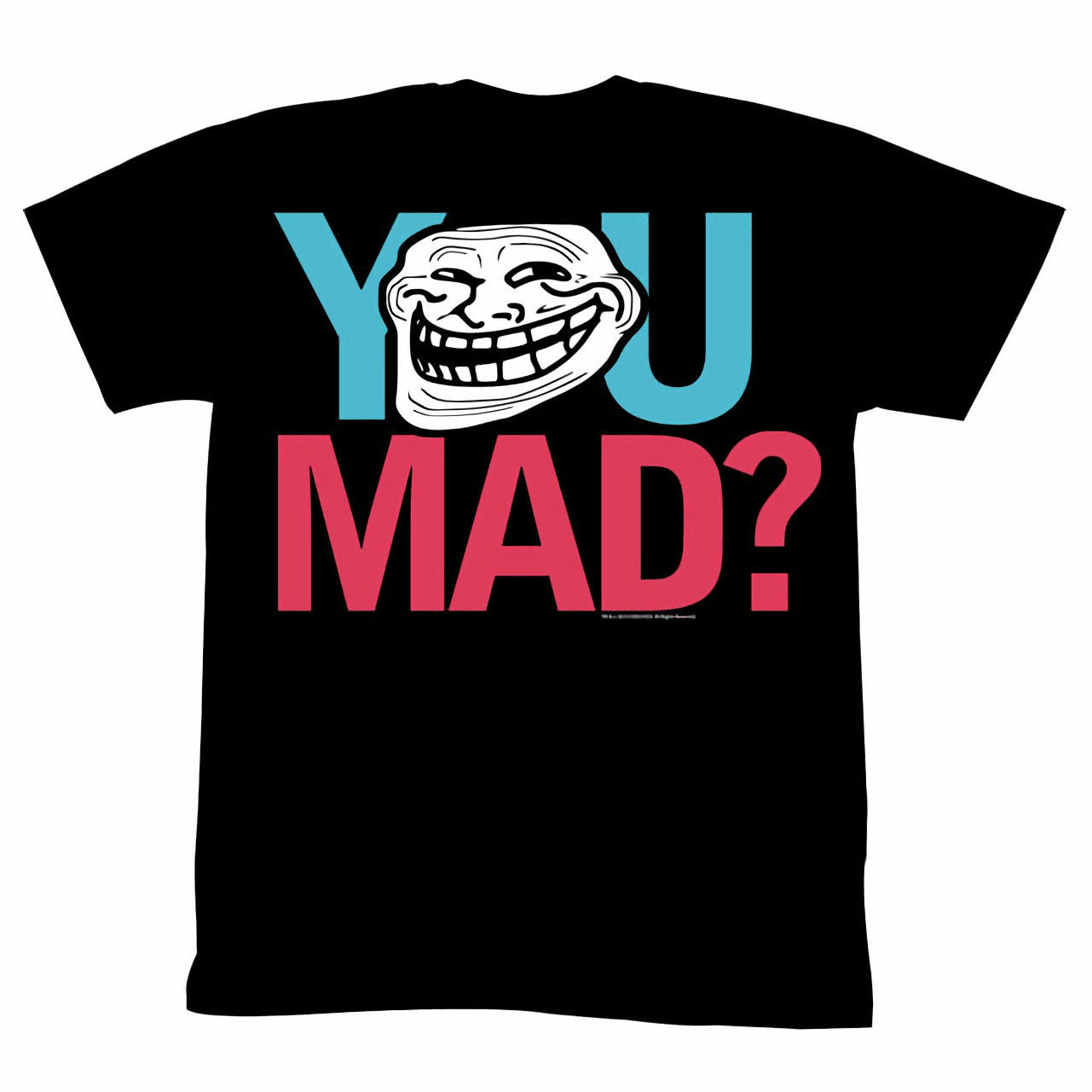 Troll Face You Mad Mad Men Mens Black T-Shirt