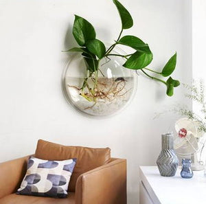 Transparent Wall Hanging Fish Bowl
