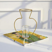 Load image into Gallery viewer, Contemporary Gold Iron Tube Vase