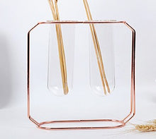 Load image into Gallery viewer, Rose Gold Metal Hydropnic Vase