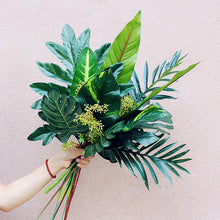 Load image into Gallery viewer, Artificial Tropical Leaf Bouquet