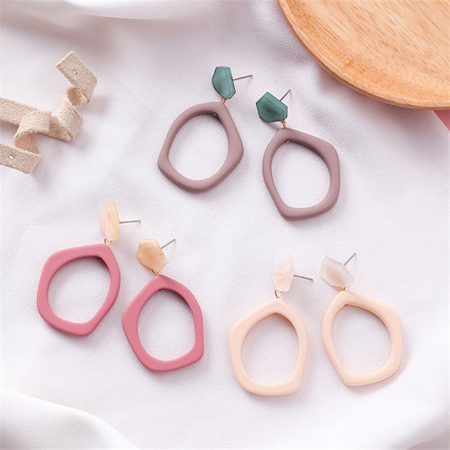 Acrylic Irregular Hollow Earrings