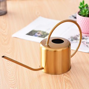 Small, Gold Watering Can Stainless Steel