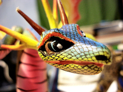 Alebrije traditionnel mexicain fait main dragon
