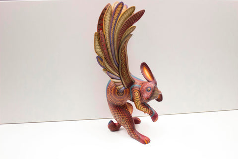 Alebrije traditionnel mexicain peint a la main Pedro Linares