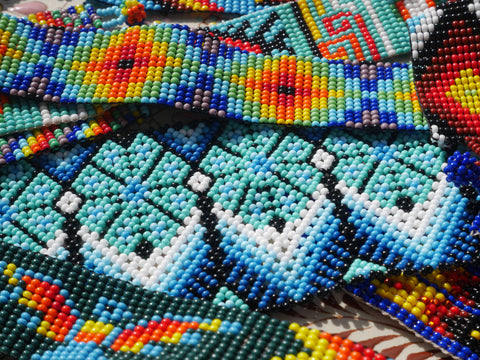 Bracelets mexicains en perles traditionnel huichol fais a la main