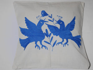 Housse Otomi - Animaux bleux clairs - Hecho a Mano