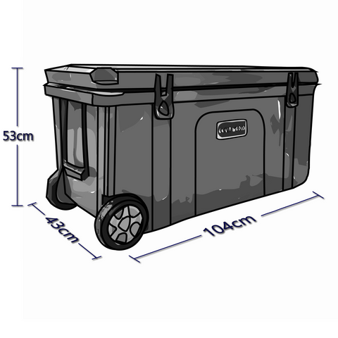 Exterior Dimensions For 120 Liter Chilly Ice Box Cooler