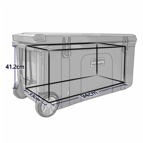 Interior Dimensions For 120 Liter Chilly Ice Box Cooler