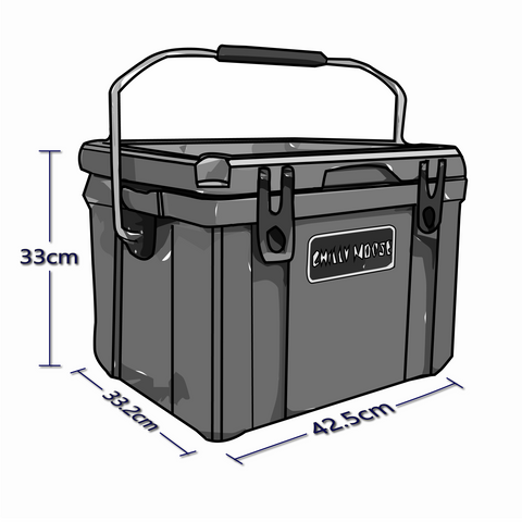 Exterior Dimensions For 25 Liter Chilly Ice Box Cooler