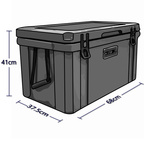 Exterior Dimensions For 55 Liter Chilly Ice Box Cooler