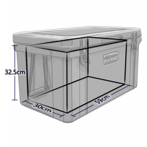 Interior Dimensions For 55 Liter Chilly Ice Box Cooler
