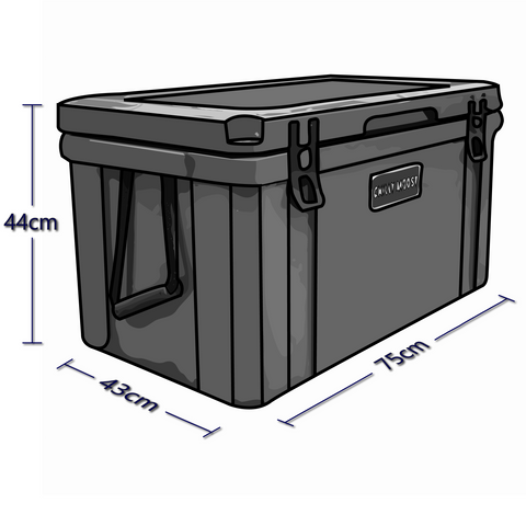 Exterior Dimensions For 75 Liter Chilly Ice Box Cooler