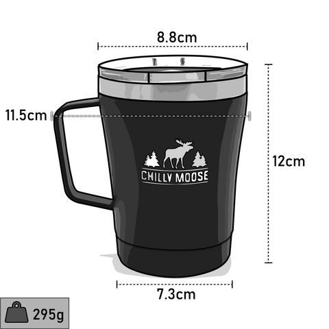 Chilly Moose 12oz Canisbay Tumbler dimensions