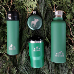 Forest green drinkware
