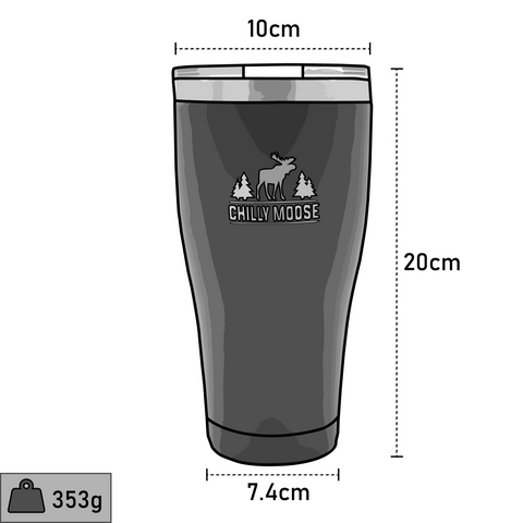Chilly Moose Georgian Tumbler Dimensions