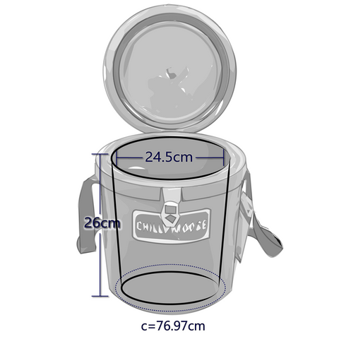 Interior Dimensions For 12 Liter Chilly Moose Harbour Ice Bucket
