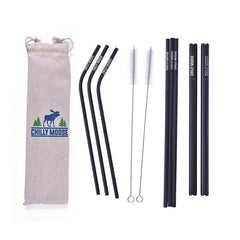 Set of Chilly Moose reusable straws.